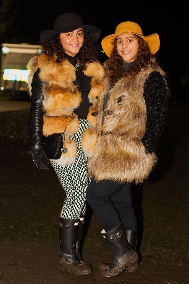 Christina & Alisha in Fur & Wellie Boots
